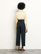 Tailored wool pants : Pants & Shorts color Navy Blue