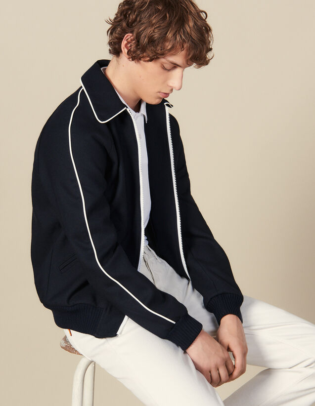 Teddy-Style Jacket : Jackets color Navy Blue