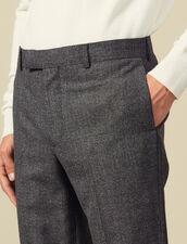 Marled Wool Suit Suit Pants : Suits & Blazers color Mocked Grey