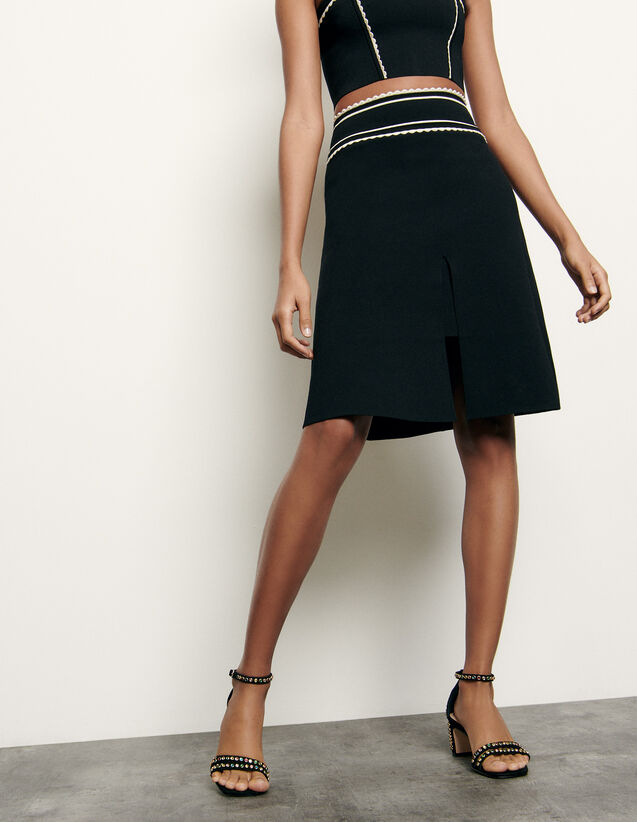 Short knit skirt : Spring Pre-Collection color Black