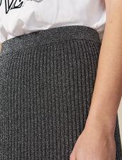 Lurex Knit Midi Skirt : Skirts color Silver