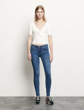 Ribbed knit cropped top : Spring Pre-Collection color Black