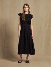 Flowing Sleeveless Long Dress : Dresses color Black