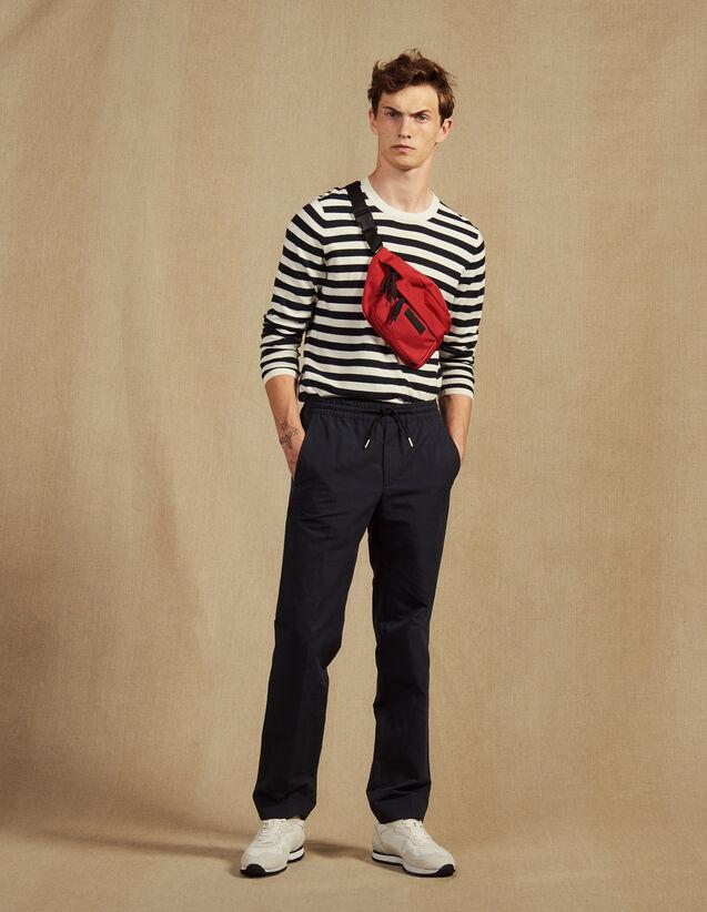 Smart Cotton/Linen Pants : Pants & Jeans color Navy Blue