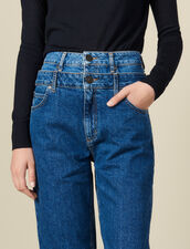 Layered Mom Jeans : Jeans color Blue