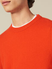 Wool And Cashmere Sweater : Sweaters color Orange