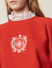 Detachable Victorian Collar Sweatshirt : Sweaters color Red