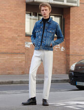 Straight-Cut White Jeans : Pants & Jeans color white