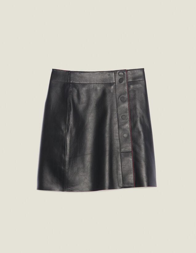 A-Line Leather Skirt : Skirts color Black