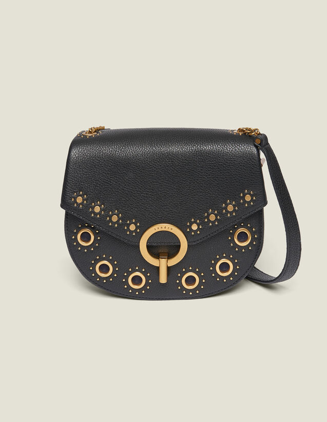 Pépita Bag, Medium Model With Studs : Bags color Black