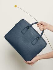 Saffiano leather briefcase : Bags color Blue