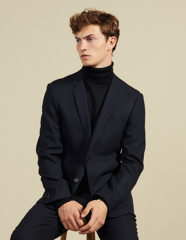 Slim-Fit Wool Suit Jacket : Suits & Blazers color Navy Blue