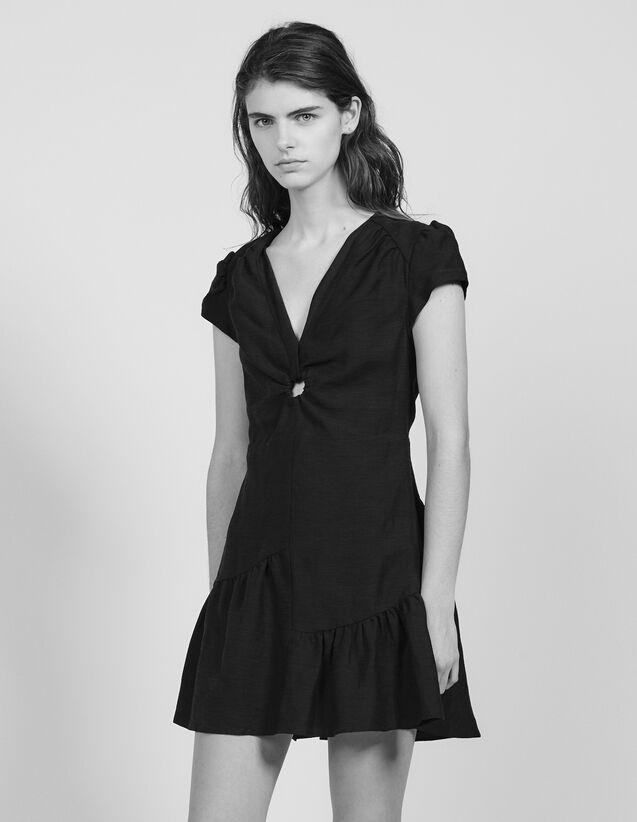 Short Dress With Ring Detail : Dresses color Black