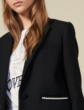 Blazer jacket embellished with beads : Jackets color Black