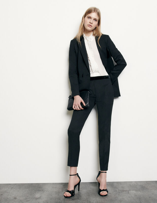 Straight-cut suit pants : Spring Pre-Collection color Black