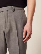 Wool Suit Pants : Suits & Blazers color Light Grey