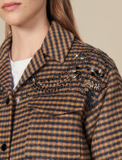 Oversized Checked Shirt Jacket : Coats color Multi-Color