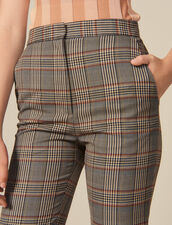 Checked straight-cut trousers : Pants & Shorts color Multi-Color