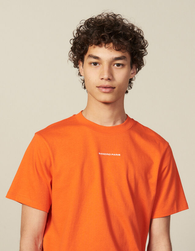 Cotton T-Shirt : New Collection color Orange