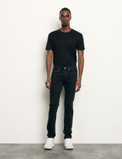 Black jeans - Skinny cut : Jeans color Black