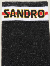 Lurex Socks With Sandro Logo : Other Accessories color Black