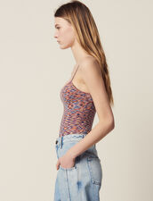 Strappy Knitted Bodysuit : Tops & Shirts color Orange