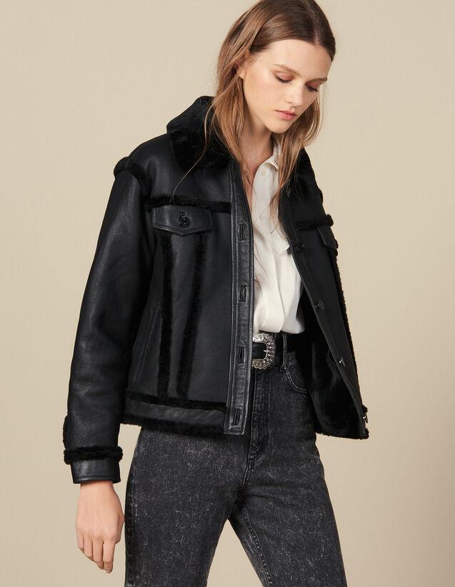 Sheepskin Jacket : Coats color Black