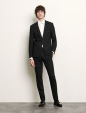 Classic wool suit jacket : Suits & Blazers color Navy Blue