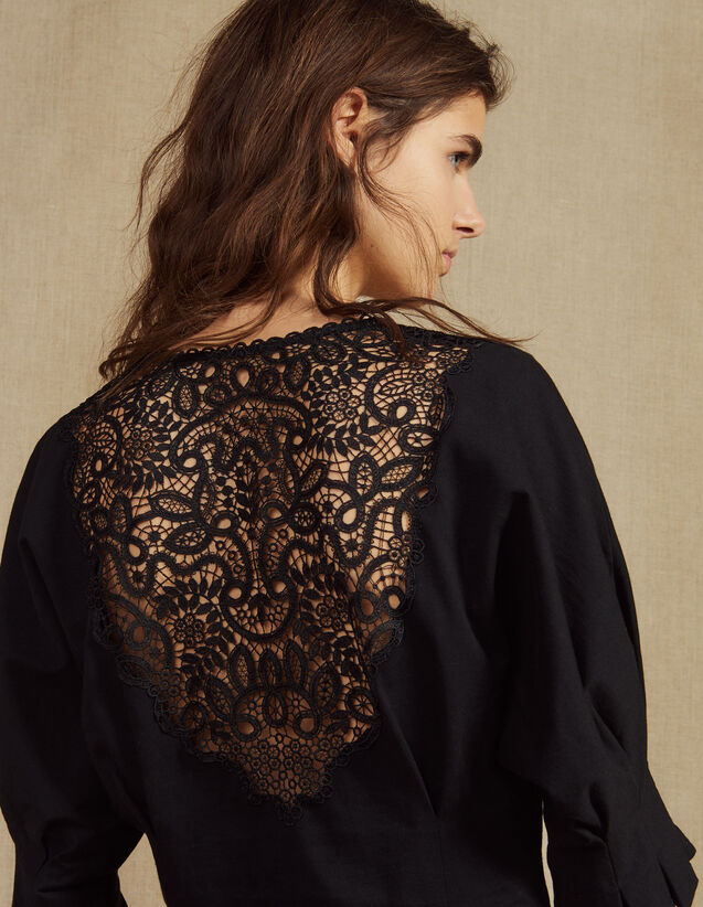 T-Shirt With Lace Back : Tops & Shirts color Ecru