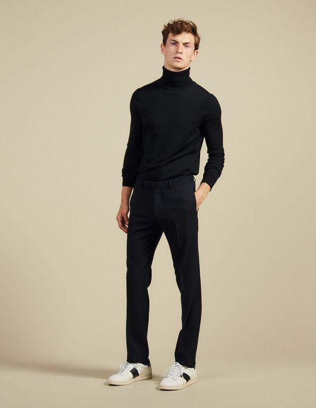 Suit pants : Pants & Shorts color Navy Blue