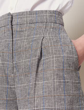 Checked Shorts : Pants & Shorts color Grey