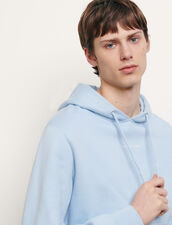 Hoodie sweatshirt with logo embroidery : Spring Pre-Collection color Black
