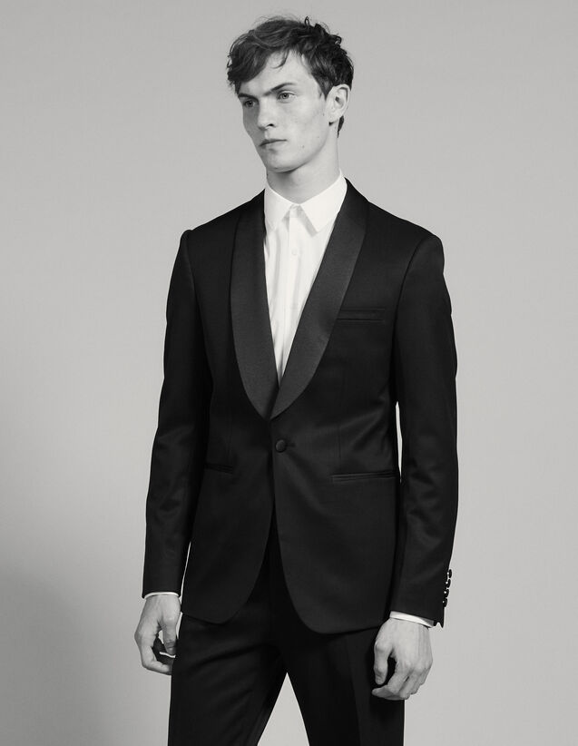Tuxedo Jacket : Suits & Blazers color Black