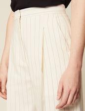 Wide-Leg Tailored Pants : Pants & Shorts color white