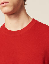 Fine Fancy Stitch Sweater : Sweaters color Red