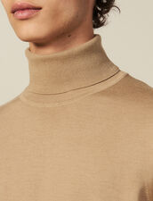 Roll neck wool sweater : Spring Pre-Collection color Pink