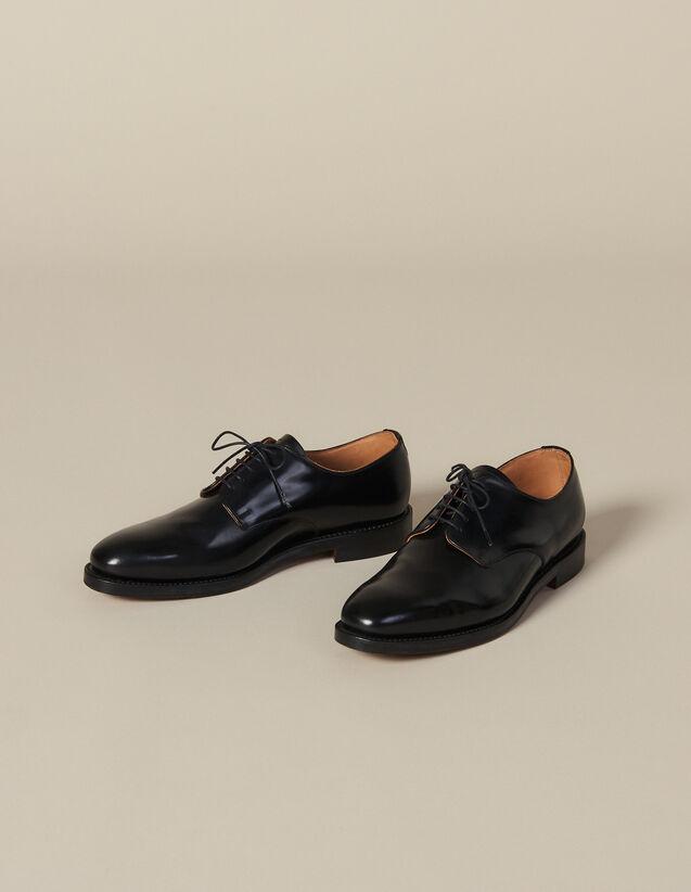 Leather Derby Shoe : Shoes color Black