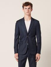 Wool Suit Jacket : Suits & Blazers color Pétrol Blue