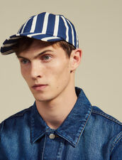 Cap With Contrasting Stripes : Hats color Blue
