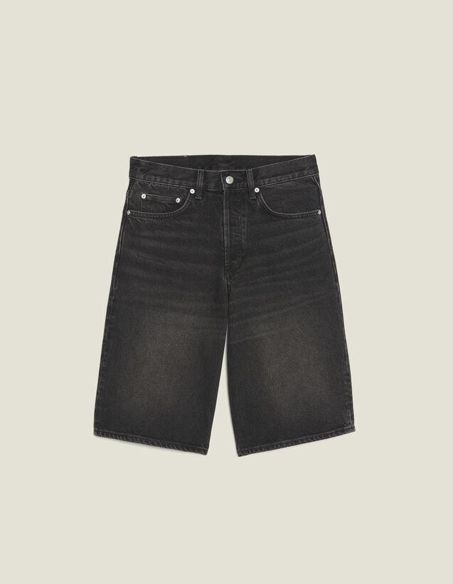 Denim Bermuda Shorts : Pants & Jeans color Black