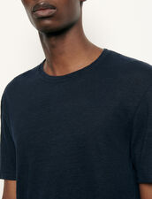 Linen T-shirt : Spring Pre-Collection color Navy Blue