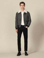 Wool aviator jacket : Jackets color Grey