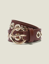 Belt With Eyelets : Other Accessories color Camel