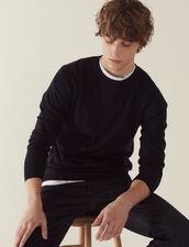 Merino wool sweater : Sweaters color Navy Blue