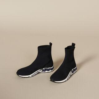 Socks, NOIR/BLEU, hi-res, | sandro-paris.com