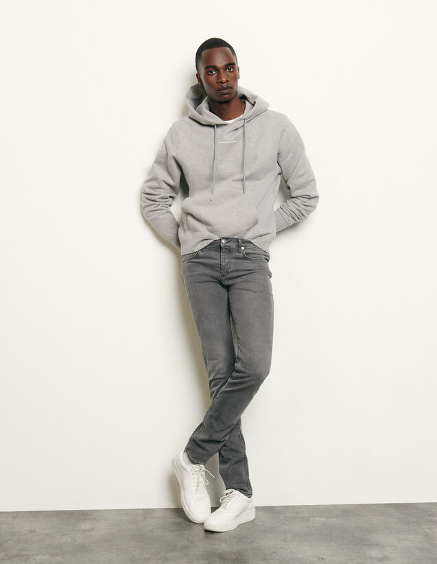 Washed grey jeans - Narrow cut : Spring Pre-Collection color Grey