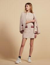 Straight-Cut Short Tweed Dress : Dresses color Pink
