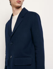 Double-sided wool coat : Coats color Navy Blue