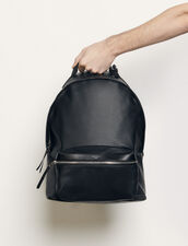 Coated fabric backpack : Spring Pre-Collection color Black