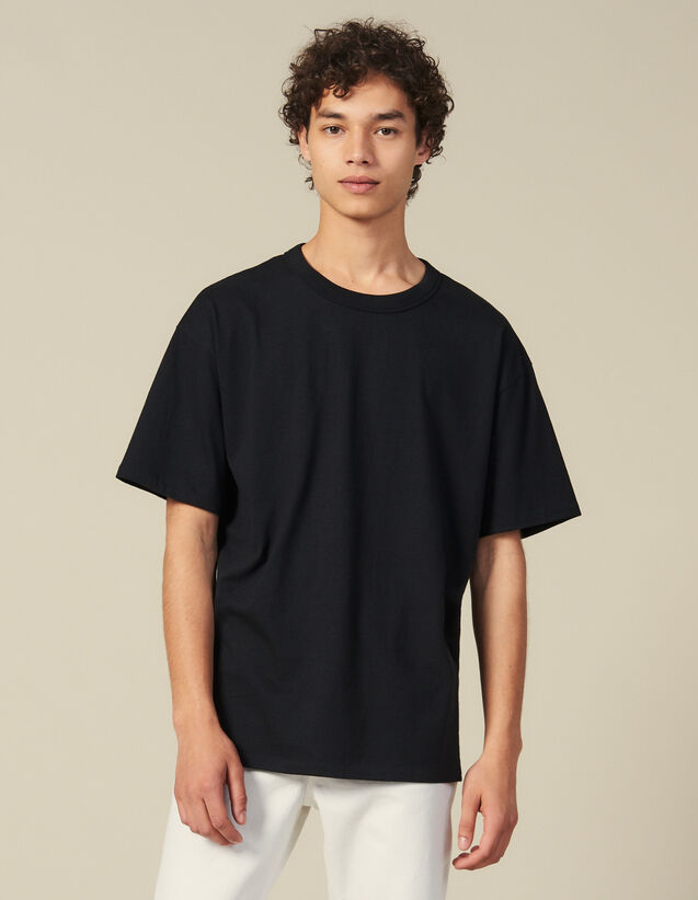 Cotton T-Shirt : T-shirts & Polos color Black